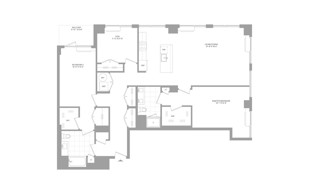 C5 3 Bed 2 Bath Floorplan